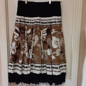 Coldwater Creek Gorgeous Lined Lace Trimmed Skirt